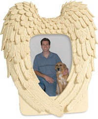 Image of Guardian Angel Wings Photo Frame Casket