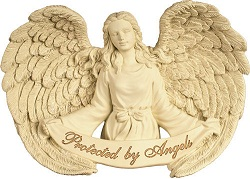 Image of Wall Hanging - Protected by Angels Casket