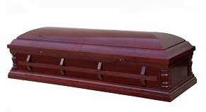 Image of TEMPLE - Cherry Veneer Cremation Casket Casket