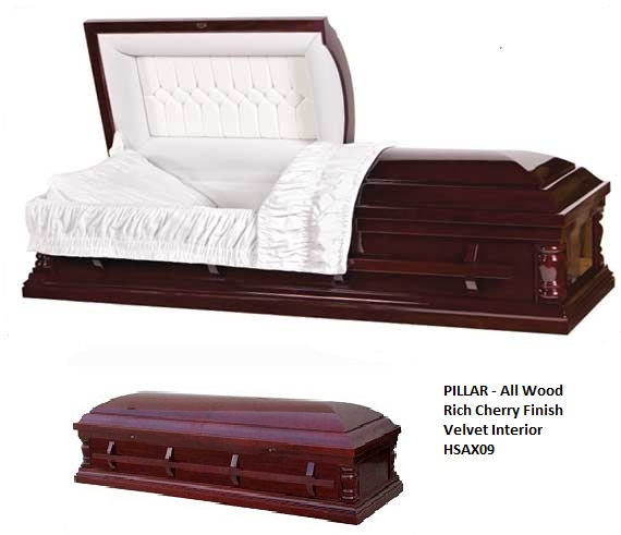 Photo of TEMPLE - Cherry Veneer Cremation Casket Casket