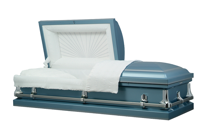 Photo of American Blue Metal Casket Casket