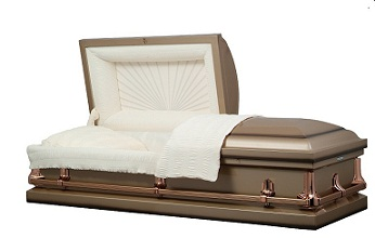 Image of American Coppertone Metal Casket Casket