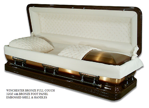 Image of Winchester Full Couch Bronze Casket