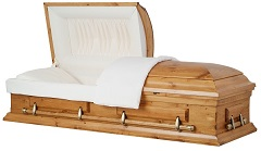 Image of Solid Country Pine Wood Casket Casket