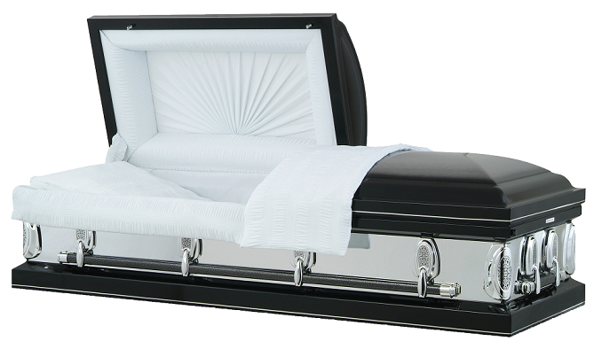 Image of Black KNight Mirror Casket Casket