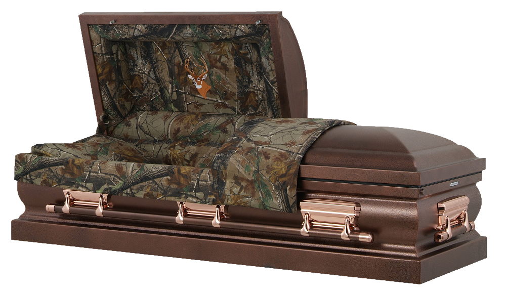 Photo of Hunters Camouflage & Bronzed Casket Casket