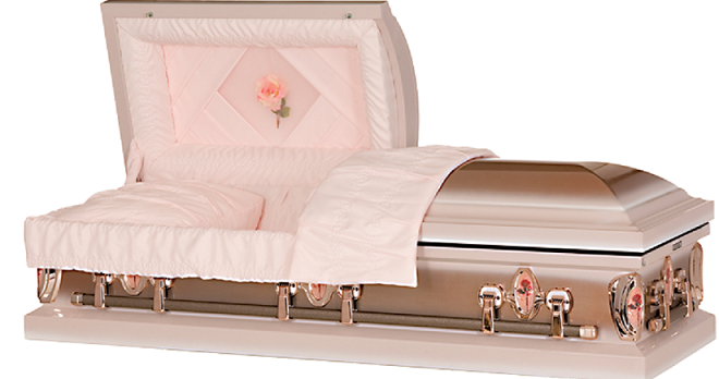 Image of Cameo Rose Custom Designed Steel Casket Casket