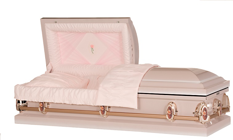 Photo of Classic Pearl Rose Steel Casket Casket