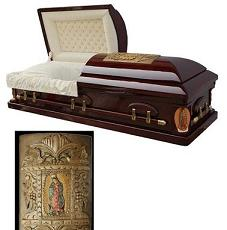 Photo of Wood Caskets - Golden Memory Casket