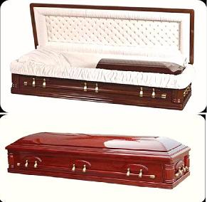 Image of Devotion Full Couch Solid Cherry Wood Casket Casket