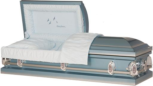 Photo of SkyBlue Going Home Steel Casket Casket