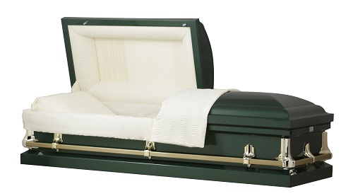 Image of American Hunter Green Steel Casket Casket