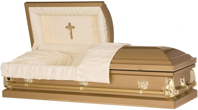 Photo of Golden Cross Casket Casket