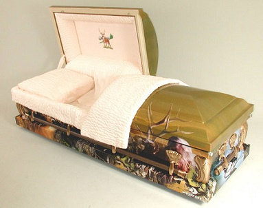 Image of MEMORIES of the HUNT Art Casket Casket