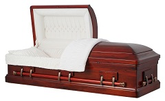 Image of Imperial Solid Poplar Wood Casket Casket