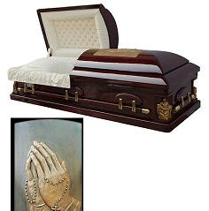 Image of Praying Hands & La Pieta Casket Casket