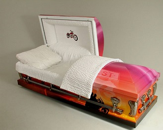 Photo of MOTORCYCLE - EASY RIDE -Art Casket Casket