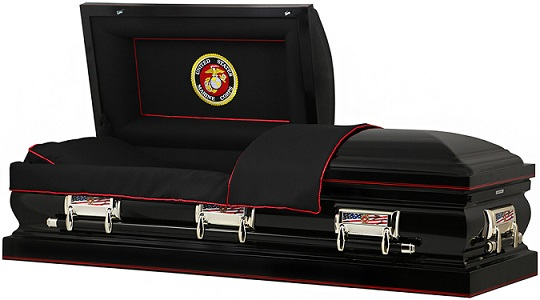 Image of US MARINE CORP Steel - 32In OVERSIZE Casket