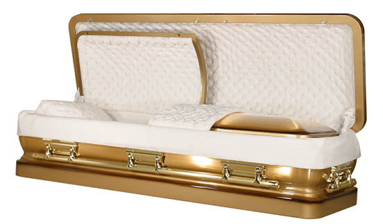 Image of Bronze - COUCH DBLE SEAL/DBL LID - 96 SOLID BRONZE Casket