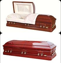 Image of Presidential Solid Cherry Wood Casket Casket