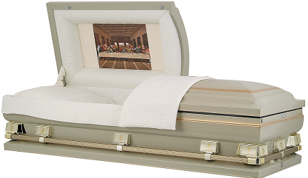 Image of Almond Finish with Gold Oversize Casket Casket