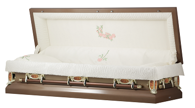 Image of Copper Rose Full Couch Casket Casket