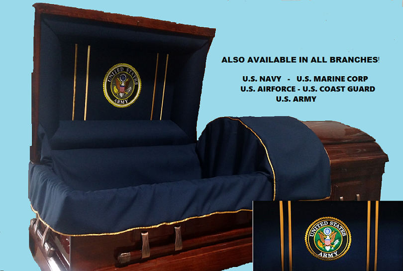 Photo of Veterans Honor & Tribute - Solid Poplar Wood Casket