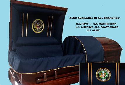 Image of Veterans Honor & Tribute - Solid Poplar Wood Casket
