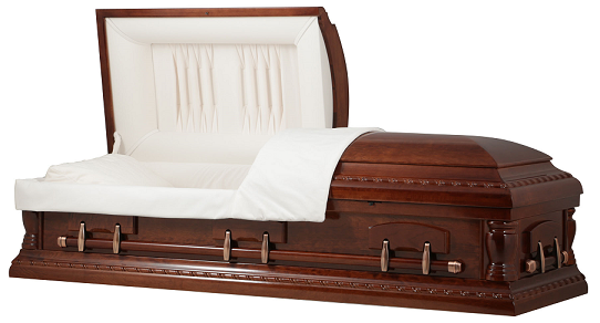 Image of CHERRY WOOD LANCASTER Casket Casket
