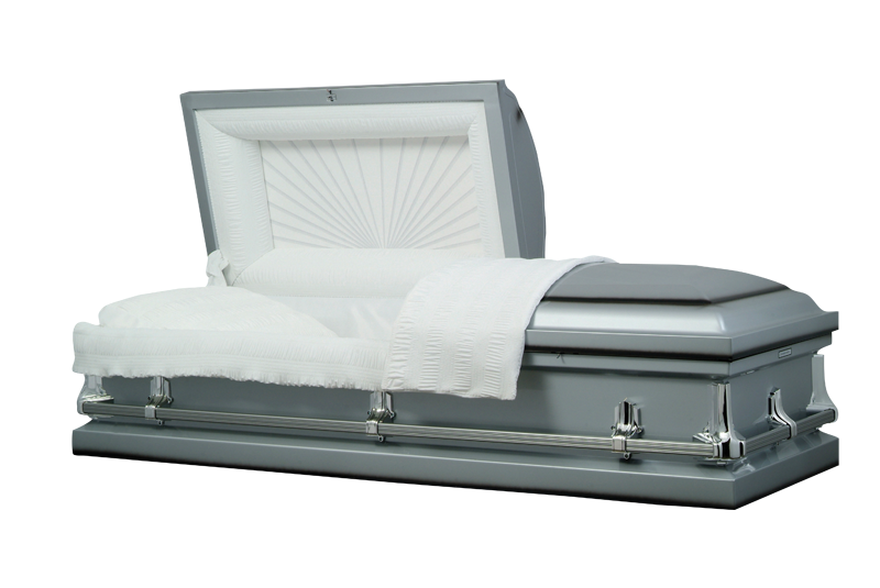 Photo of American Silver Metal Casket Casket