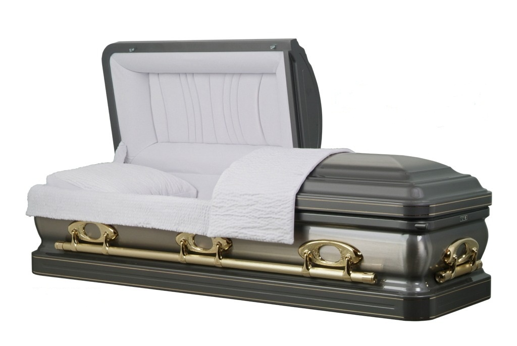 Photo of Stainless Steel - the Grayson Silver Casket Casket