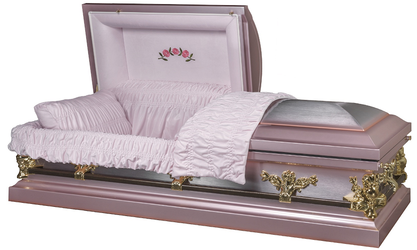 Photo of Athena Briar Rose Metal Casket Casket