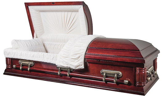 Image of Cherry Regency Veneer Casket Casket