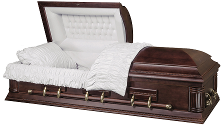 Image of The CONTINENTAL solid Paulownia Wood Casket Casket