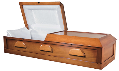 Image of VENEER Cremation Light Poplar Wood Casket - KIT or ASSEMBLED Casket