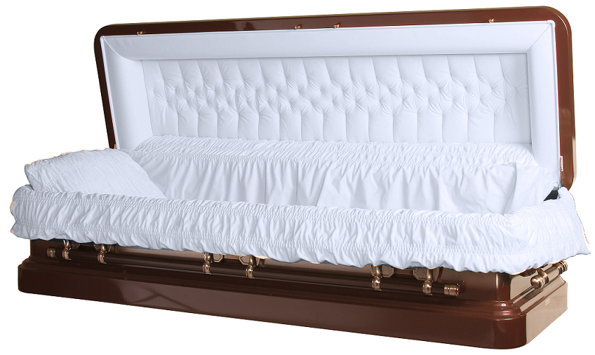 Photo of Tiger Eye Bronze Finished Full Couch Casket Casket