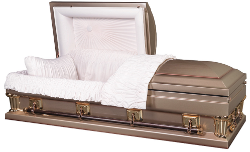 Image of Franklin Gold Oversize-either 27.5 inch or 30.5 in Interior Casket