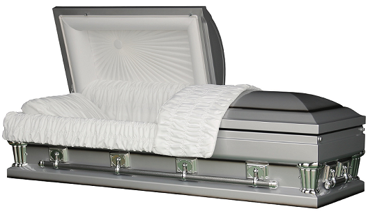 Image of Franklin Silver Oversize - in either 27.5 inches or 30.5 inches Casket