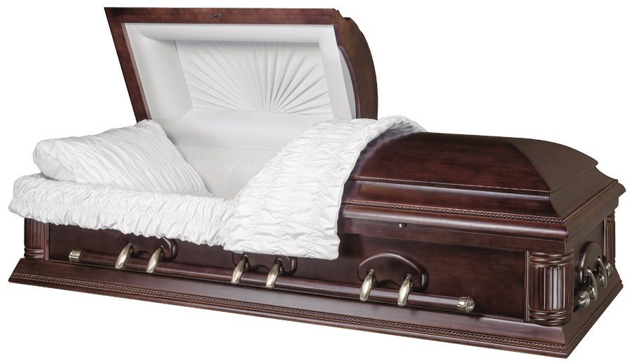 Photo of HAMILTON DARK FINISHED SOLID WOOD Casket Casket