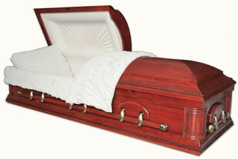 Photo of HAMILTON POPLAR with Red Walnut Finish Casket