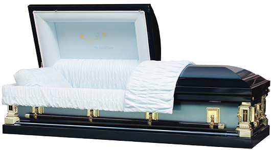 Image of In Gods Loving Care Blue Steel Casket Casket