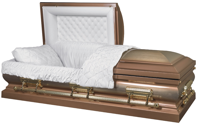 Photo of LINCOLN GOLD brushed metal casket Casket