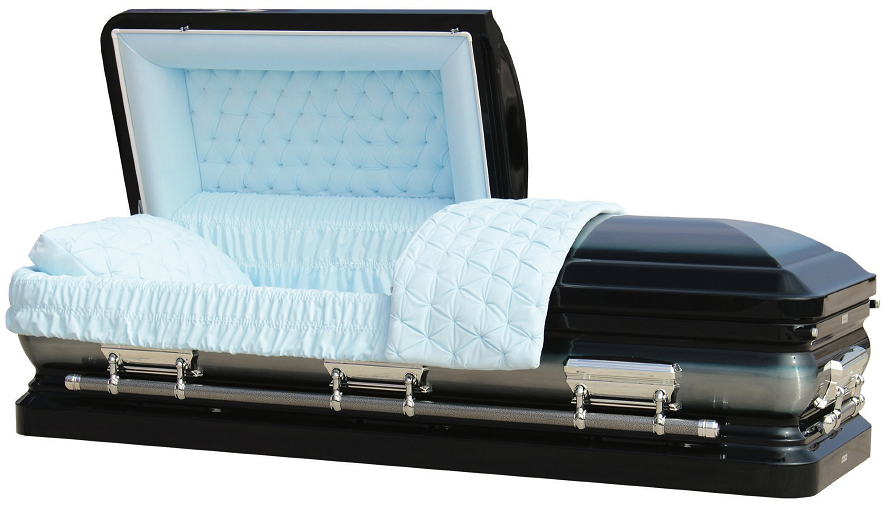 Photo of LIBERTY MIDNIGHT BLUE ROYALE Steel Casket Casket