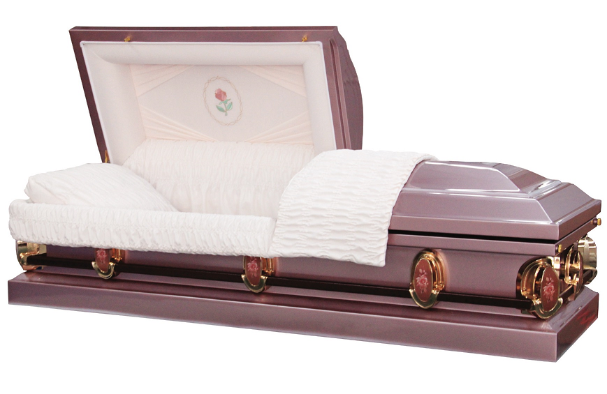 Photo of Purple Lavender Pearl Rose Casket Casket