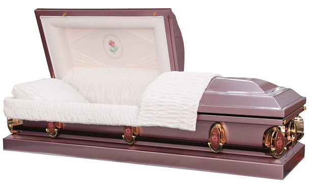 Image of Purple Lavender Pearl Rose Casket Casket