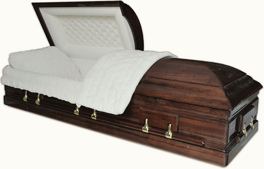 Image of SOLID PURE WALNUT TRIBUTE Casket Casket