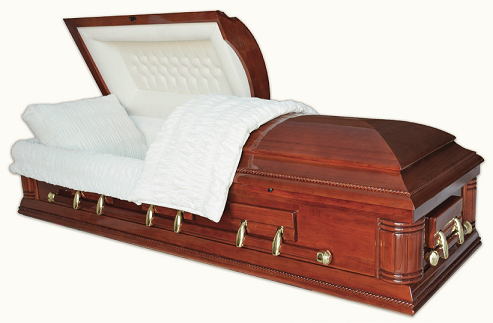 Image of WASHINGTON SOLID CHERRY Casket Casket