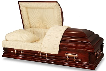Image of YALE 31 to 36 inch Poplar Wood Casket Casket