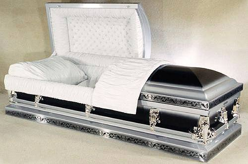 Photo of Florence Silver and Black Metal Casket Casket