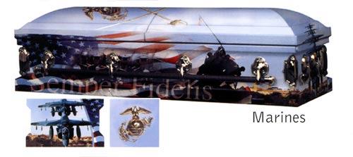 Marine Corp - Art Casket